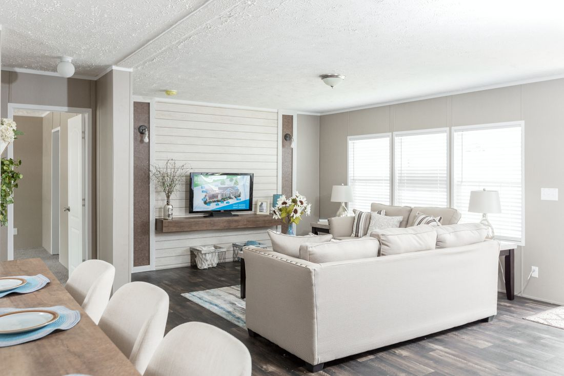 The ISLAND BREEZE 56' Living Room. This Manufactured Mobile Home features 3 bedrooms and 2 baths.