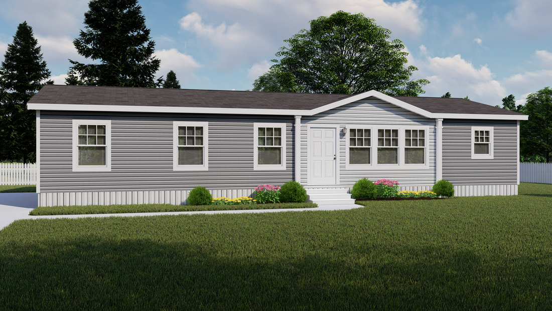The ISLAND BREEZE 56' Exterior. This Manufactured Mobile Home features 3 bedrooms and 2 baths.