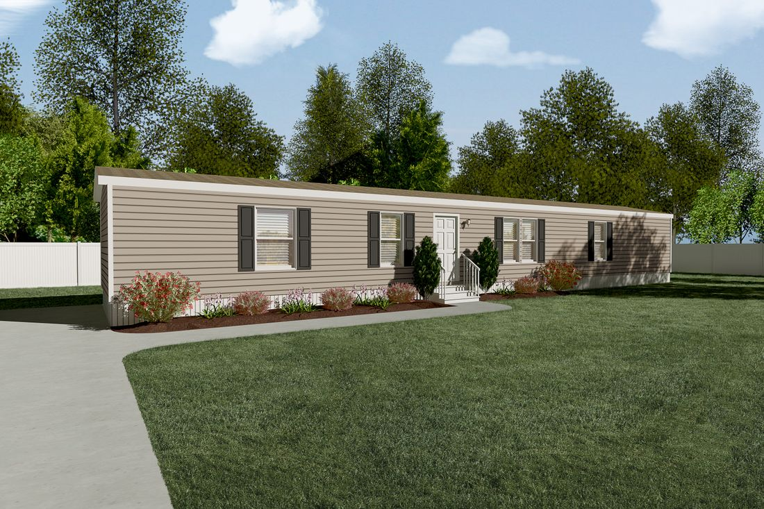 The THE NEW BREEZE I Exterior. This Manufactured Mobile Home features 3 bedrooms and 2 baths.